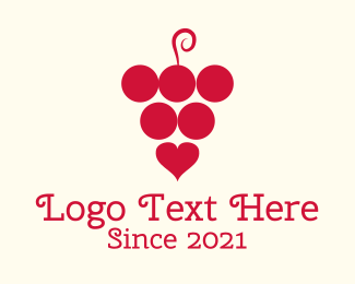 Fermented - Love Wine logo design