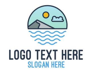 Sea - Coastal Sea Mountain logo design