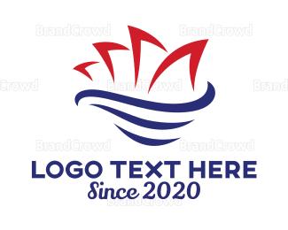 Swoosh - Abstract Sydney Opera House logo design