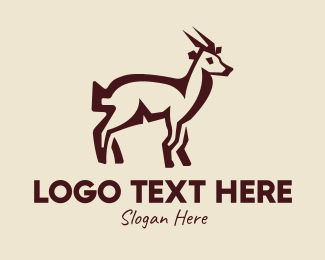 Stag - Brown Farm Goat  logo design