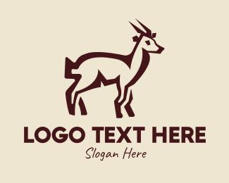 Peru - Brown Farm Goat  logo design