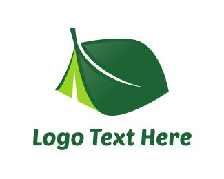Shelter - Leaf Tent logo design