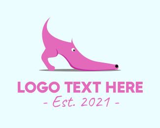 Trendy - Pink Shoe Dog logo design