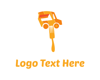 To Go - Orange Food Truck logo design