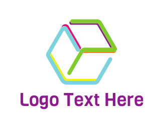 Preschool - Colorful Preschool Cube logo design