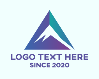 3d - Triangle Mountain Alps logo design