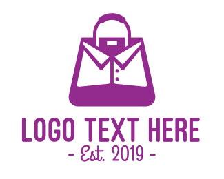 Purple Collar Bag Logo