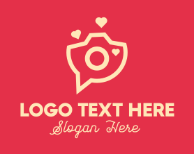 Camera - Love Camera Chat logo design