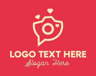 Photo Booth - Love Camera Chat logo design
