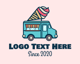Sherbet - Ice Cream Truck  logo design