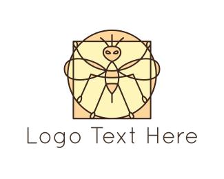 Antenna - Bee Mosaic logo design