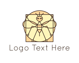 Ant - Bee Mosaic logo design