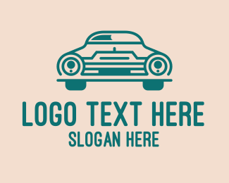 Car Club - Classic Green Automobile Car  logo design