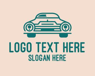 Negative Space - Classic Green Automobile Car logo design