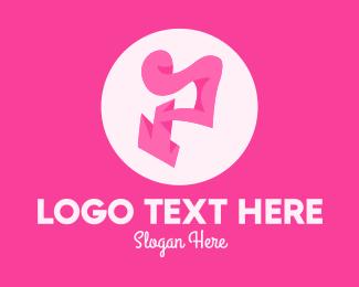 Trendy - Pink Fashion Letter P logo design