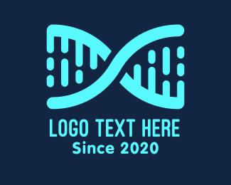 Helix - Genetics Laboratory Letter X logo design