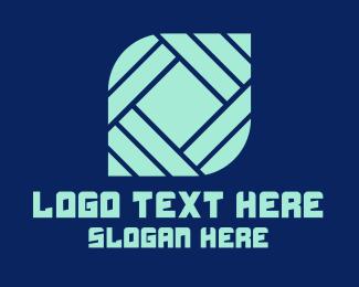 Flooring - Modern Tile Shape Company logo design