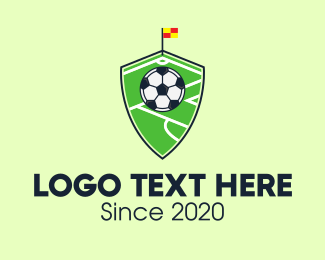 Soccer Coach - Soccer Pitch Shield logo design