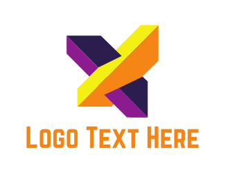 Letter X - Bold Abstract X logo design