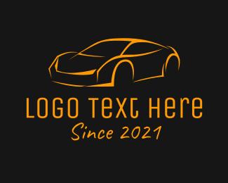 Service Station - Orange Luxury Car  logo design