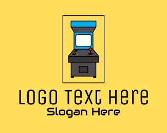 Machine - Retro Arcade Machine logo design