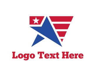 Politician - USA Star Flag logo design