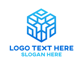 Cold - Winter Hexagon logo design