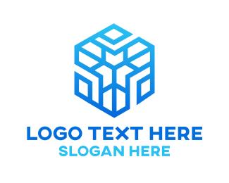 Snowflake - Winter Hexagon logo design