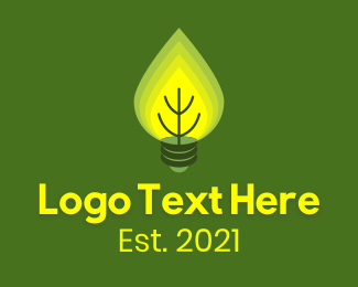 """""""Eco Friendly Leaves Lightbulb"""" by brandcrowd"""