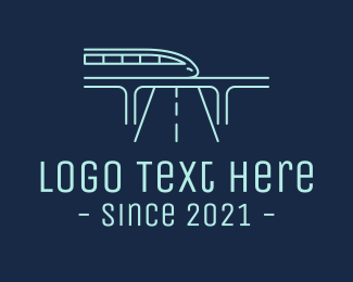 Express Train - Futuristic Metro Train logo design