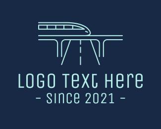 Train - Futuristic Metro Train logo design