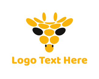 Safari - Abstract Giraffe Circle logo design