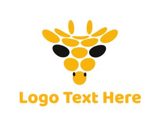Savanna - Abstract Giraffe Circle logo design