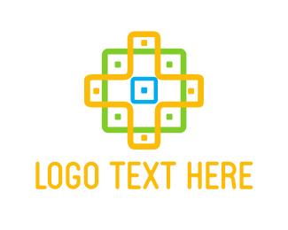 Geometrical - Cross Pattern logo design