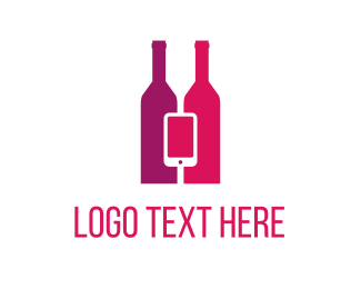 App - Wine & Mobile logo design