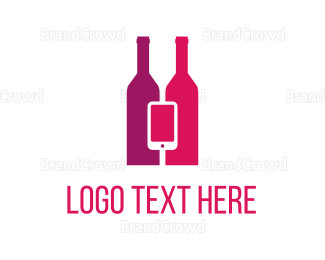 Iphone - Wine & Mobile logo design