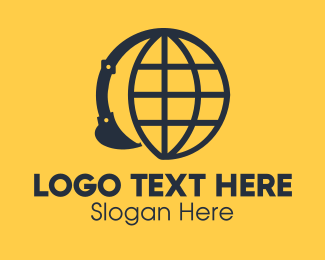 Digging - Global Construction Company logo design