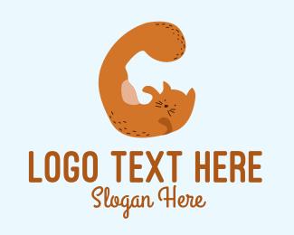 Playful - Playful Cat Letter G logo design