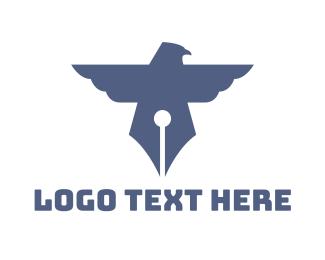 Copywriter - Pen Bird logo design