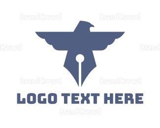 Write - Pen Bird logo design