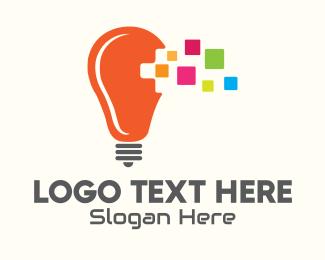 Creative - Lightbulb Creative Idea logo design