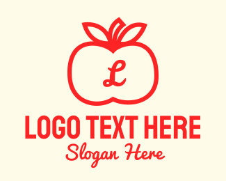 Fruit Store - Apple Fruit Letter logo design
