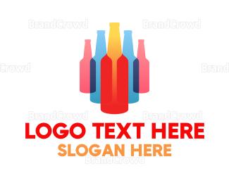 Bartender - Gradient Bottles logo design