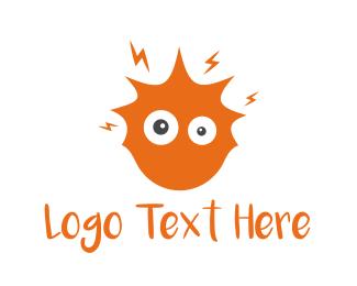 Shock - Crazy Sun logo design
