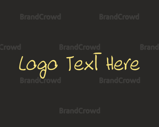 """Hand Drawn Font"" by BrandCrowd"