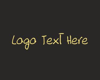 Letter - Hand Drawn Font logo design