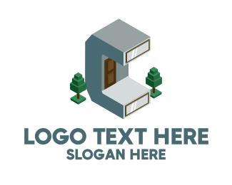 Windows - Modern Building Letter C logo design