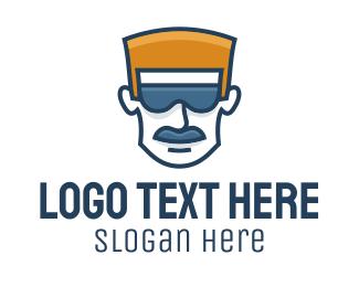 Blonde - Cool Beard Dad Haircutter logo design