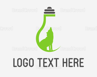Bulb - Eco Wolf Light logo design