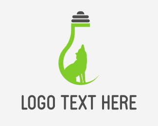 Bulb - Eco Wolf Light logo design
